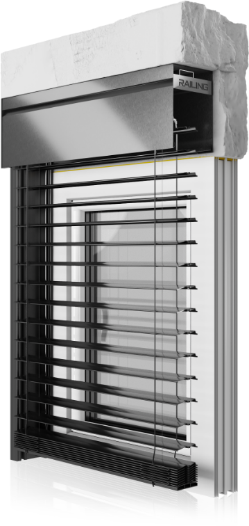 Przedstawiamy system RAFF-i, ze skrzynką aluminiową – nadprożową, dostępną w wersji widocznej, jak i w wersji podtynkowej.