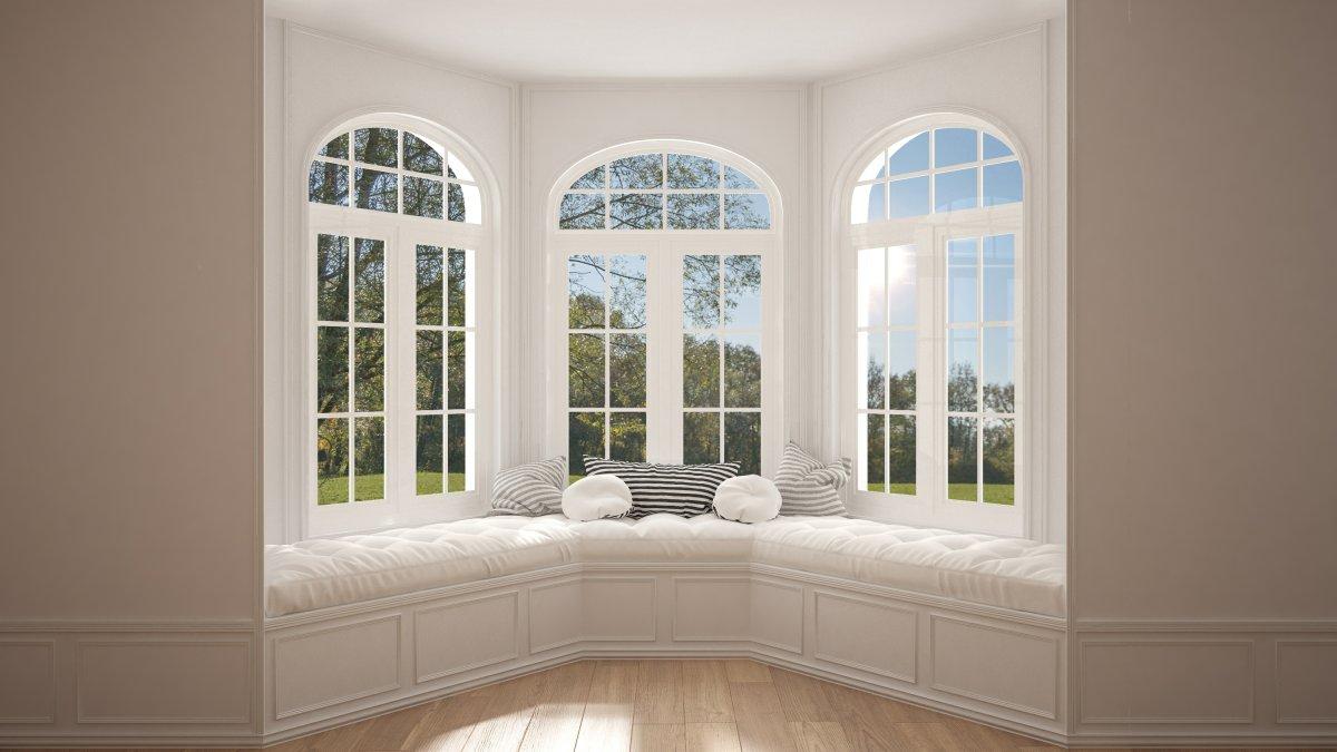 Okna łukowe stanowią element dekoracyjny