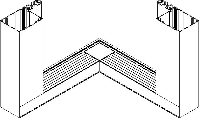 Moskitiera przesuwna - wariant narożny