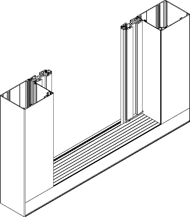 Moskitiera przesuwna - wariant podwójny