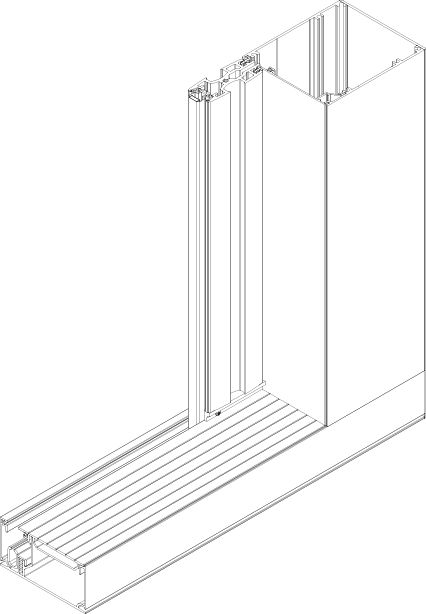 Moskitiera przesuwna - wariant pojedynczy